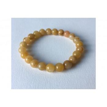 Mala bracelet Jade jaune, 8 mm
