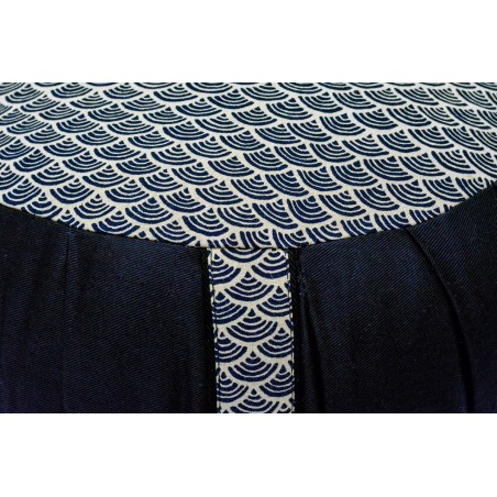 zafu et zafuton Petit Koï, noir, tissu japonais
