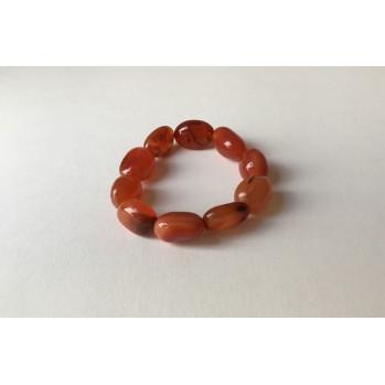 Mala bracelet en cornaline galet