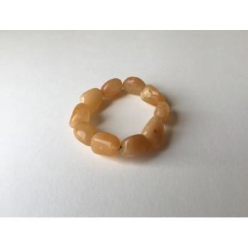 Mala bracelet Jade jaune galet