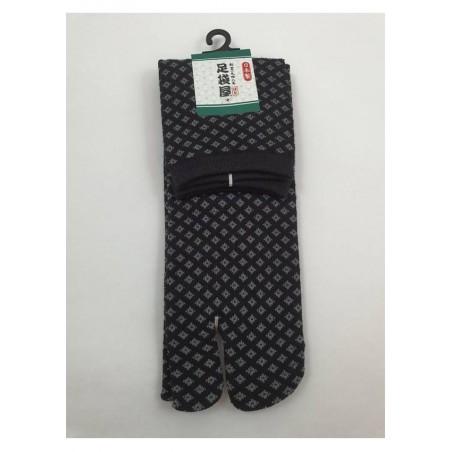 Chaussettes japonaises (tabi) Motifs Hishigata, noir