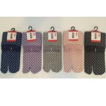 Chaussettes japonaises (tabi) Motifs Pois, noire