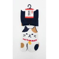 Chaussettes japonaises (tabi) Motif Chat, 34-40