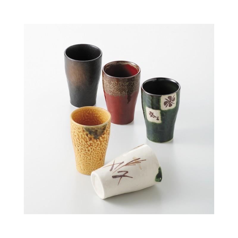 Set de 5 tasses en céramique japonaise