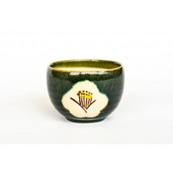 Tasse en céramique japonaise, verte