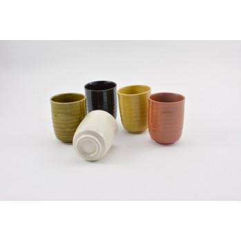 Set de 5 mazagrands en céramique japonaise