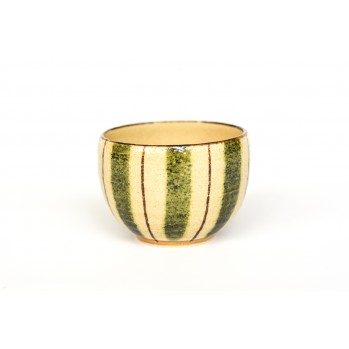 Tasse en céramique japonaise, à rayures