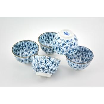 Set de 5 tasses sachiko en porcelaine japonaise