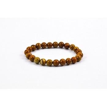 Mala bracelet en jaspe caramel
