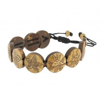 Mala bracelet Os foncé Huit...