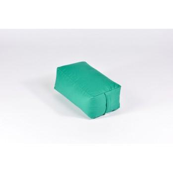 Zafu rectangulaire (épeautre) vert émeraude