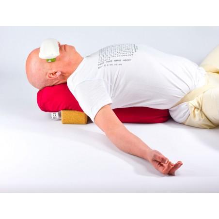 Bolster de yoga - posture setu bandha sarvangasana