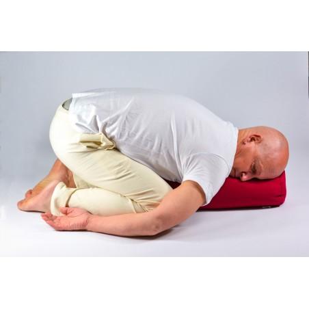 Bolster de yoga - posture balasana