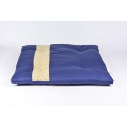 Zafuton épais Asanoha, bleu, tissu japonais
