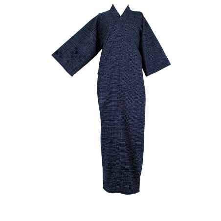 Kimono Long bleu nuit (points)