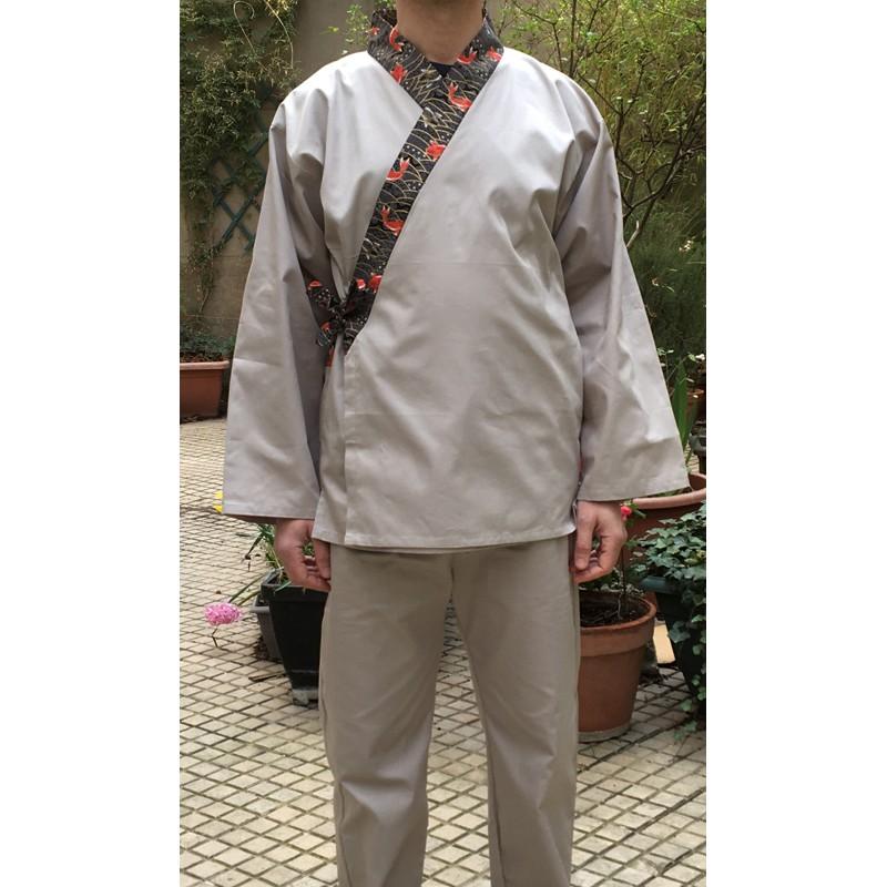 Ensemble samue Koï, Série limitée, 100 % coton, gris