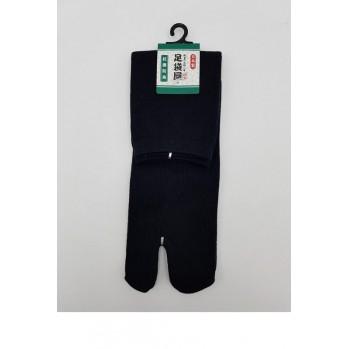 Chaussettes japonaises (tabi), uni noir, 34-40
