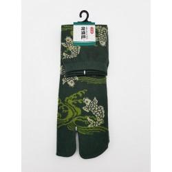 Chaussettes japonaises (tabi) Motif Koï, 40-45, vert