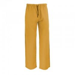 Pantalon, fibre eucalyptus, safran