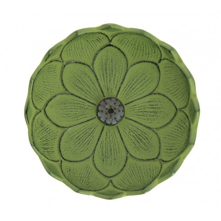 Brûle encens Fleur de lotus, en fonte du Japon, vert
