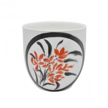 Tasse « le bouquet de fleurs », Séverine Soulat, artiste-peintre sur porcelaine