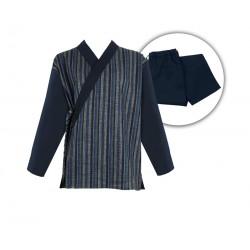 Ensemble samue Rayures, Série limitée, 100 % coton, bleu