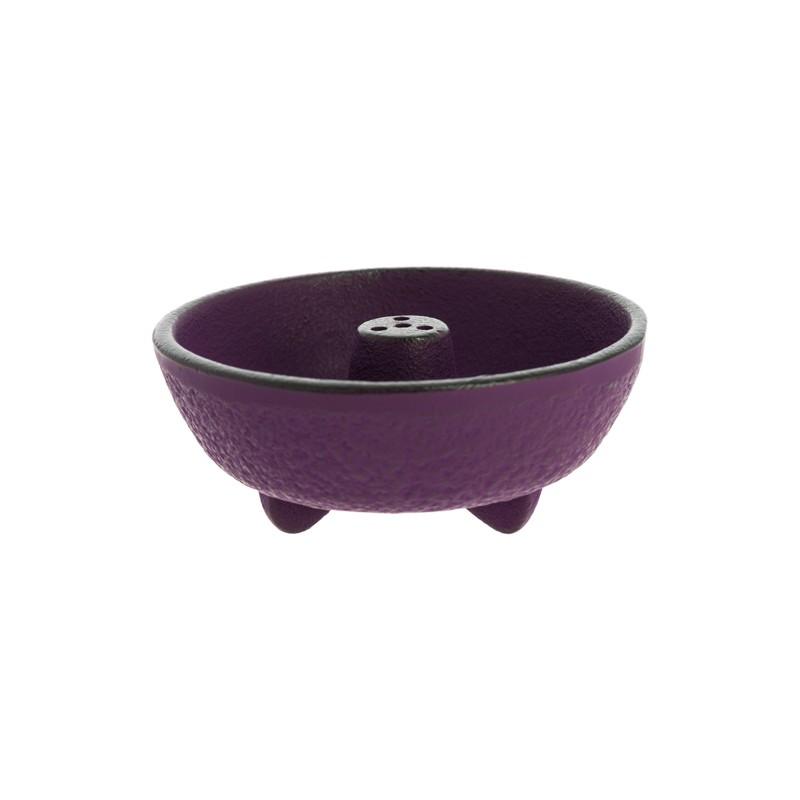 Brûle encens en fonte du Japon, violet