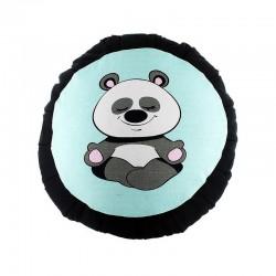 Zafu panda vert d'eau