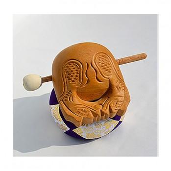 Mokugyo petit tambour 10 cm de voyage, pour rythmer les chants et sutras