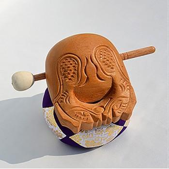 Mokugyo tambour 16 cm, pour rythmer les chants et sutras