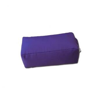 Zafu rectangulaire (épeautre) violet pour la méditation