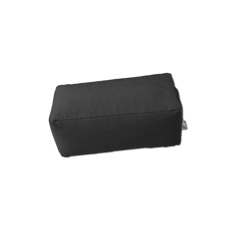 Zafu rectangulaire (épeautre) noir pour la méditation