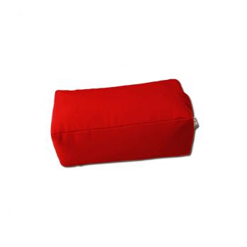 Zafu rectangulaire (épeautre) rouge pour la méditation