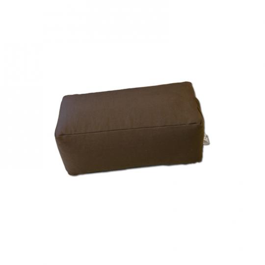 Zafu rectangulaire (épeautre) marron nuit pour la méditatino