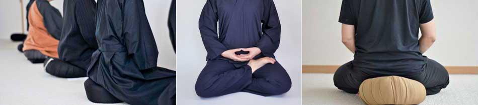 exemples de posture de méditation jambes croisées