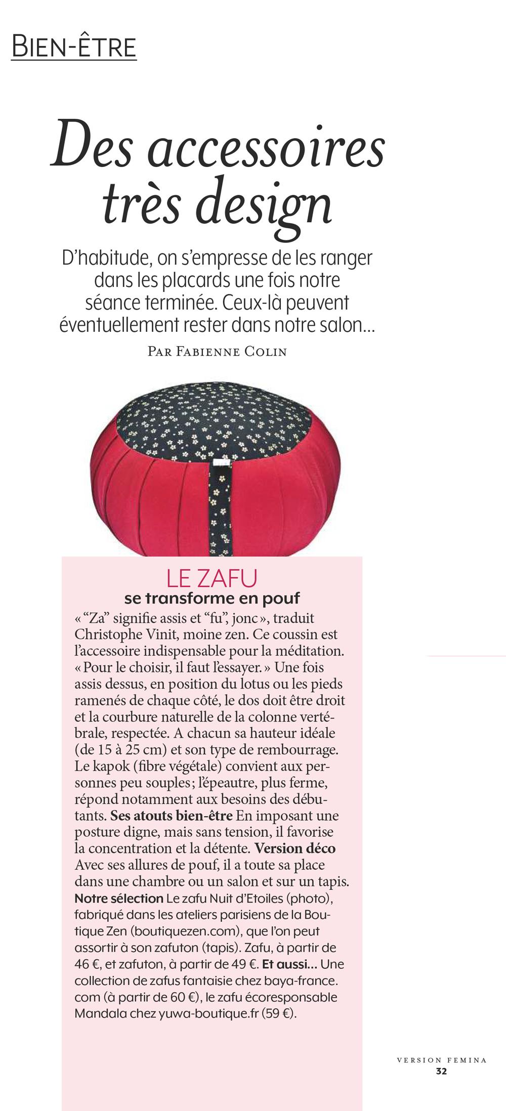 zafu imprimés