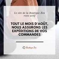 La Boutique au 175 rue de Tolbiac à Paris est fermée du 1er au 31 août inclus. Cependant, le site reste actif et les expéditions sont assurées!🙂📦  👉www.boutiquezen.com