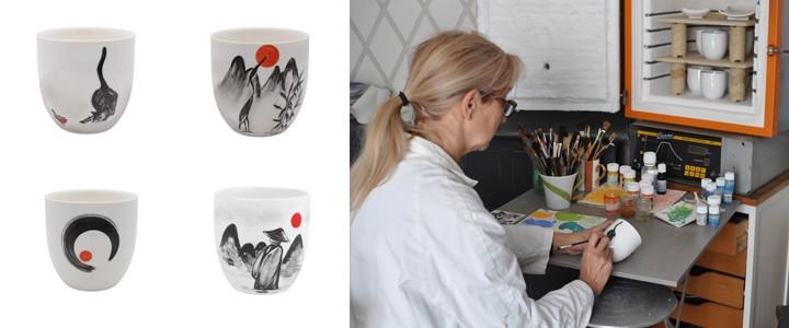 artiste-peintre sur porcelaine